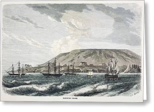 Old Sail Ships Galapagos Island Isabela Greeting Card by Paul D Stewart