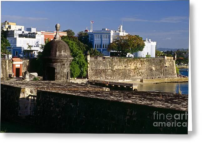 Old San Juan City Walls  Greeting Card