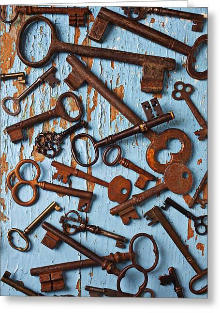Old Skeleton Keys Greeting Card by Garry Gay