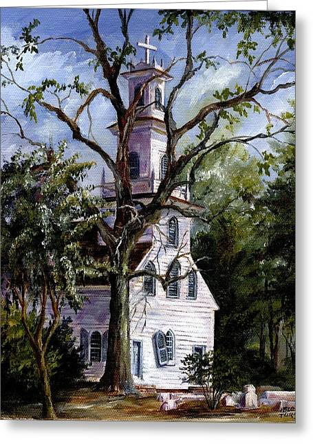Old St. David's Church Greeting Card by Gloria Turner