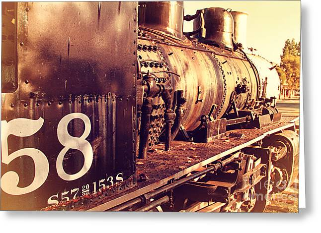 Old Steam Locomotive Engine 1258 . 7d10467 Greeting Card by Wingsdomain Art and Photography