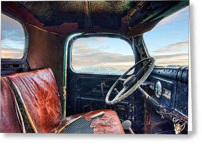 Old Truck Interior Greeting Card by Tim Fleming