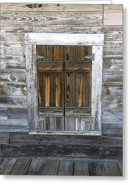 Old Window Greeting Card by Robert Graybeal