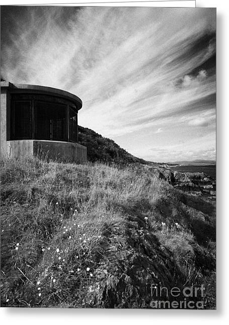Old World War Two Searchlight Station At Grey Point Attached To Grey Point Fort In Belfast Lough Greeting Card
