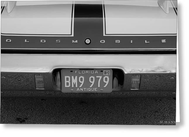 Olds Cs In Black And White Greeting Card by Rob Hans