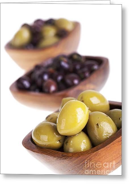 Olive Bowls Greeting Card