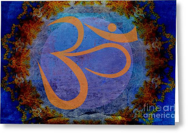 Om Greeting Card by Sacred  Muse