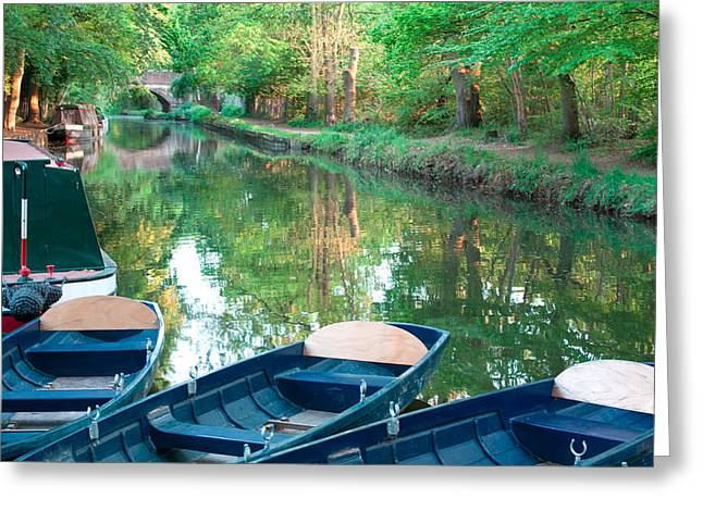 On The Canal Greeting Card by Shirley Mitchell