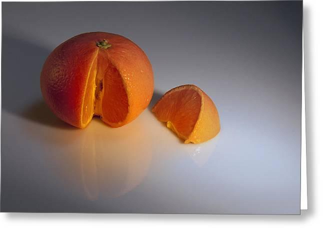 Orange Greeting Card by Svetlana Sewell