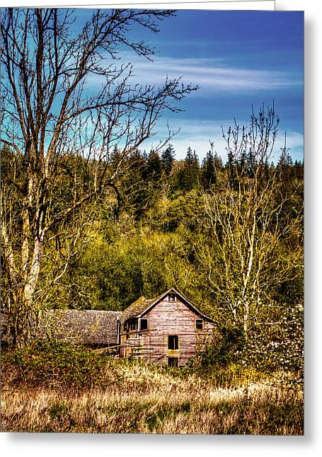 Orting Barn Greeting Card by David Patterson