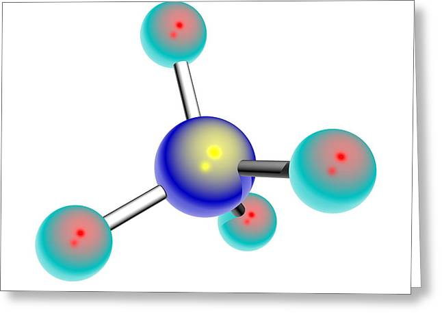 Osmium Tetroxide Molecule Greeting Card
