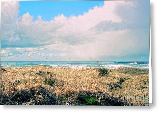 Pacific Blue Greeting Card by Billie-Jo Miller