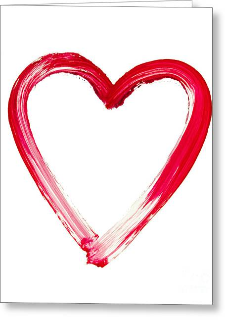 Painted Heart - Symbol Of Love Greeting Card by Michal Boubin