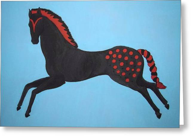 Painted Pony Greeting Card by Stephanie Moore