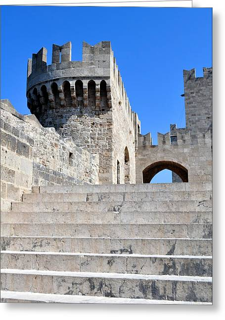 Palace Of Grand Masters. Rhodes. Greece. Greeting Card by Fernando Barozza