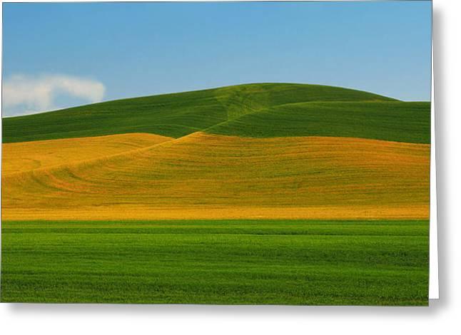 Palouse Panorama Greeting Card by Winston Rockwell