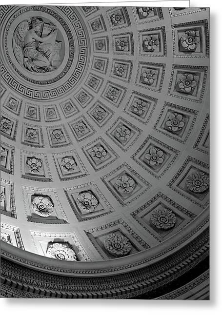 Pantheon Dome Greeting Card by Sebastian Musial