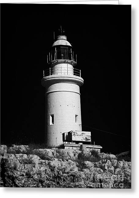 Paphos Lighthouse Republic Of Cyprus Europe Greeting Card by Joe Fox