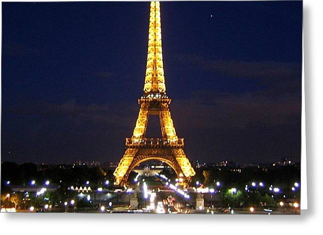 Paris By Night Greeting Card