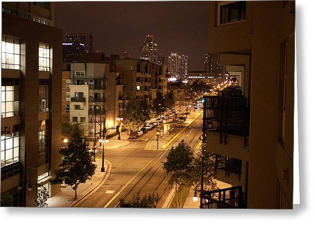 Park Blvd Night Greeting Card