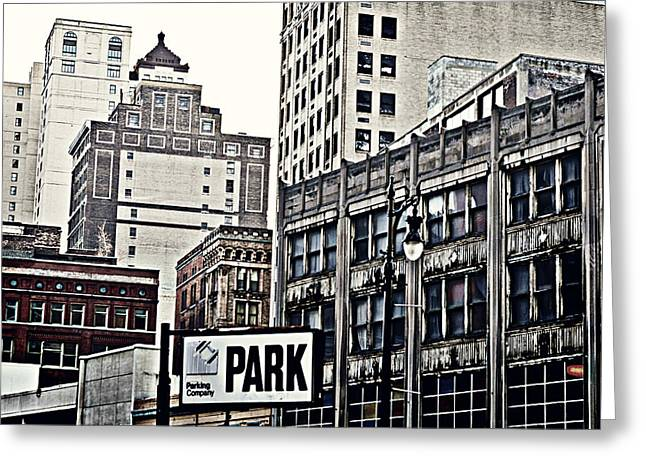 Park Detroit Greeting Card by Alanna Pfeffer