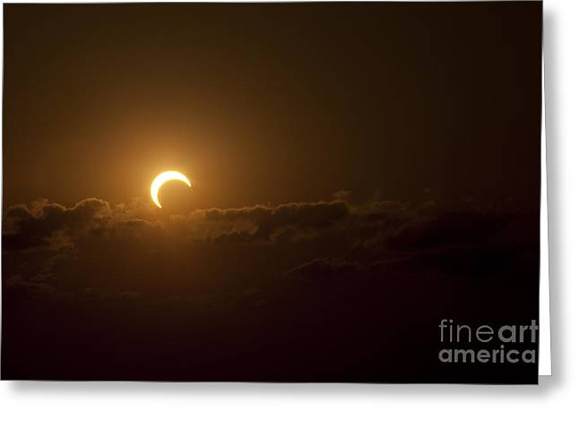 Partial Solar Eclipse Greeting Card by Phillip Jones