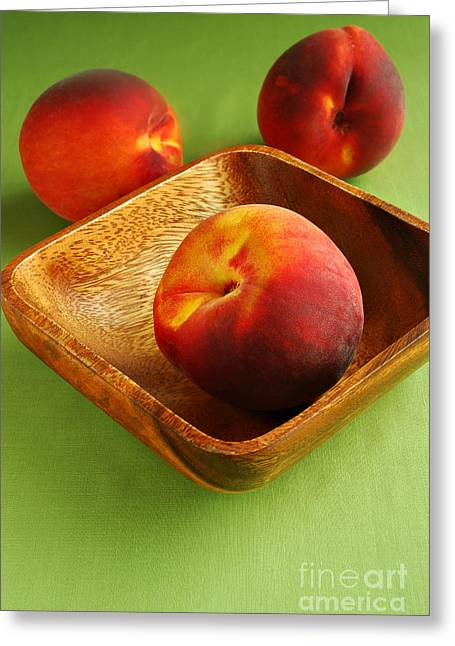 Peaches Greeting Card by HD Connelly
