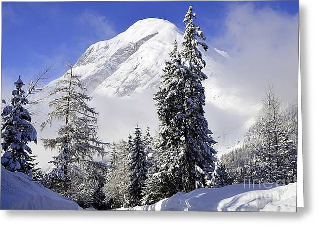 Peak In The Alps Greeting Card