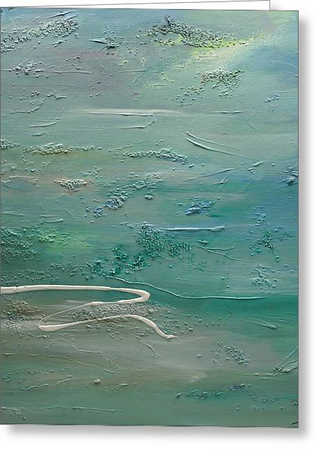 Greeting Card featuring the painting Pearls Of Tranquility by Dolores  Deal