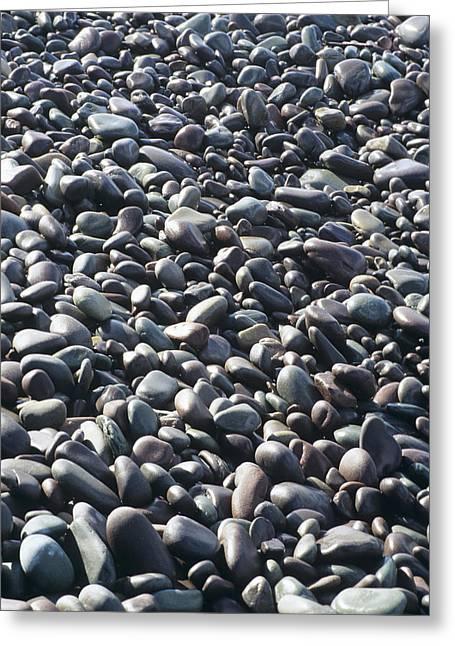 Pebbles On A Beach Greeting Card by David Aubrey