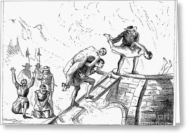 Persecution Of Waldenses Greeting Card