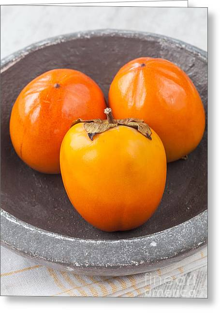 Persimmon Greeting Card by Sabino Parente