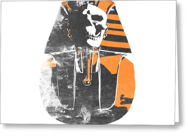 Pharaoh Stencil  Greeting Card by Pixel  Chimp