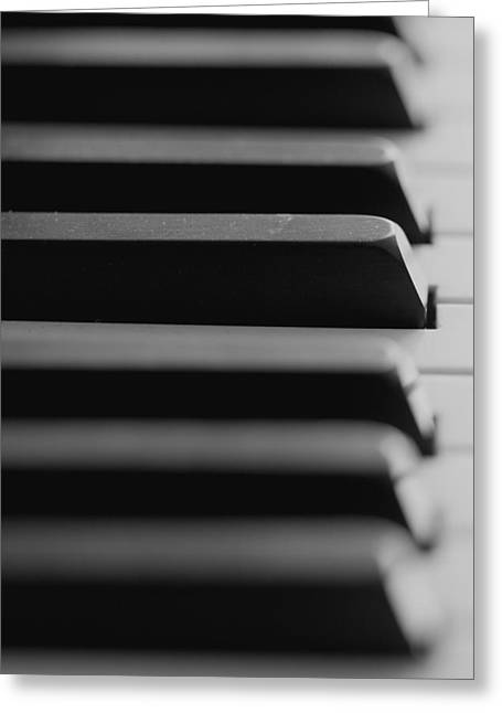 Piano Keys Greeting Card by Falko Follert