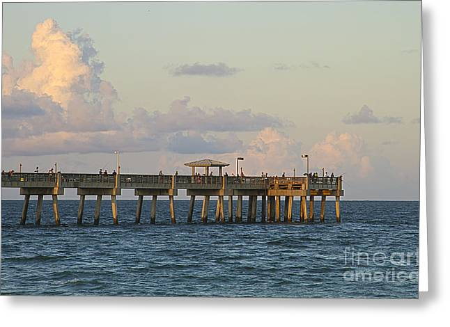 Pier Greeting Card by Blink Images