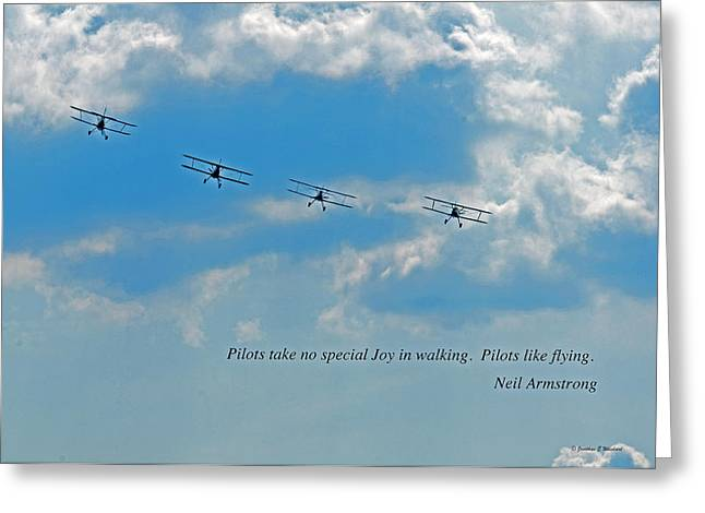 Pilots Greeting Card by Jonathan E Whichard