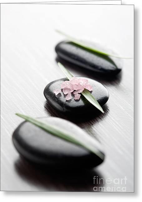 Pink Bath Salt Greeting Card by Kati Molin