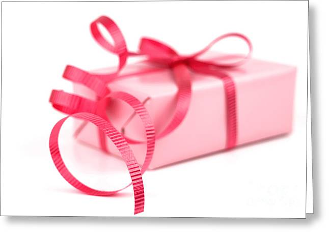 Pink Gift Greeting Card