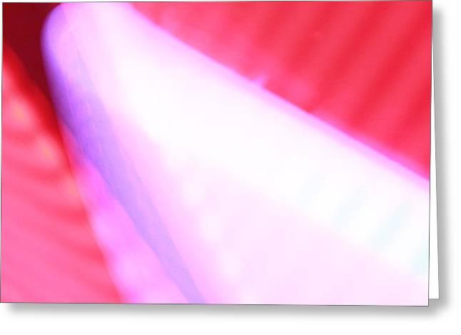 Pink Neon Greeting Card by Will Czarnik