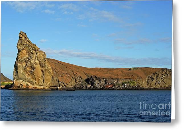 Pinnacle Rock Viewed From Sea Greeting Card by Sami Sarkis