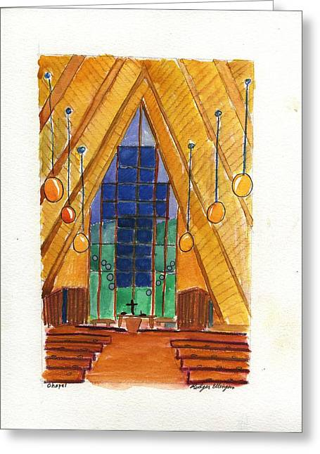 Placerville Chapel Greeting Card by Rodger Ellingson