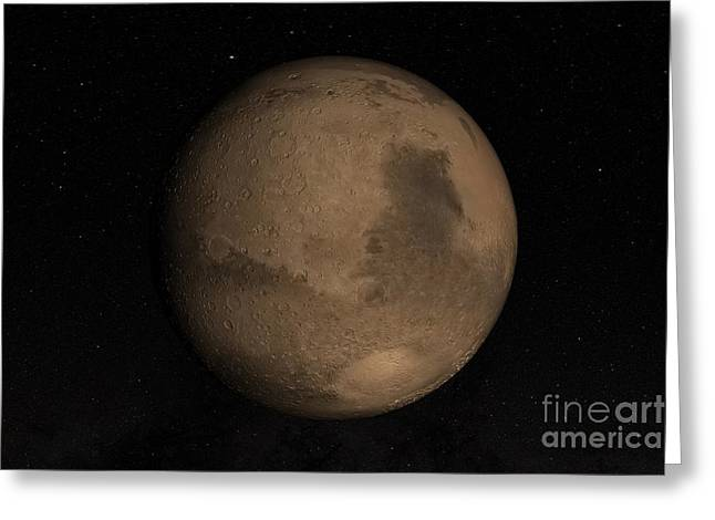Planet Mars Greeting Card by Stocktrek Images