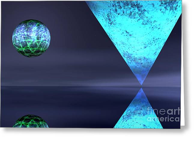 Planet Reflection Greeting Card