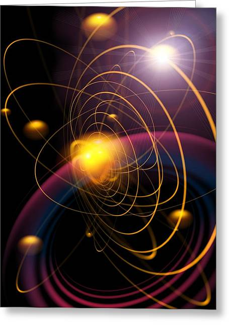 Planetary Orbits, Artwork Greeting Card