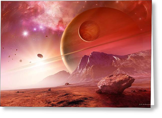 Planets In The Orion Nebula Greeting Card by Detlev Van Ravenswaay