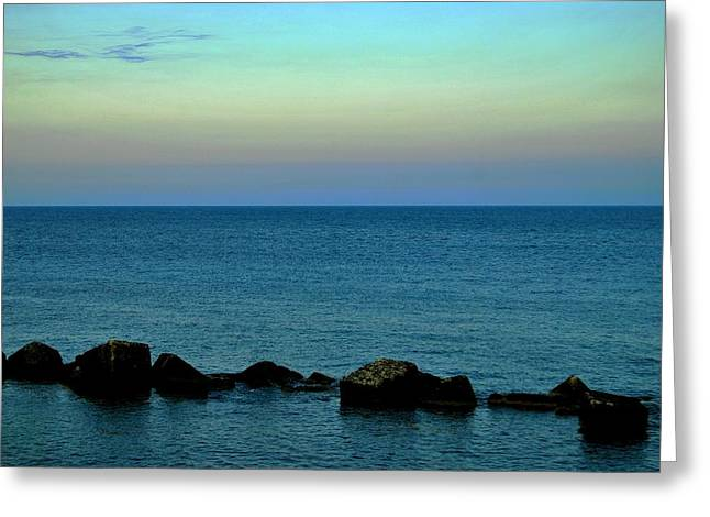 Playas De Noche Greeting Card by Eire Cela