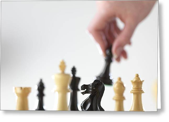 Playing Chess Greeting Card