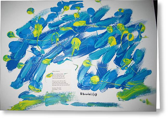 Poetry Painting Greeting Card