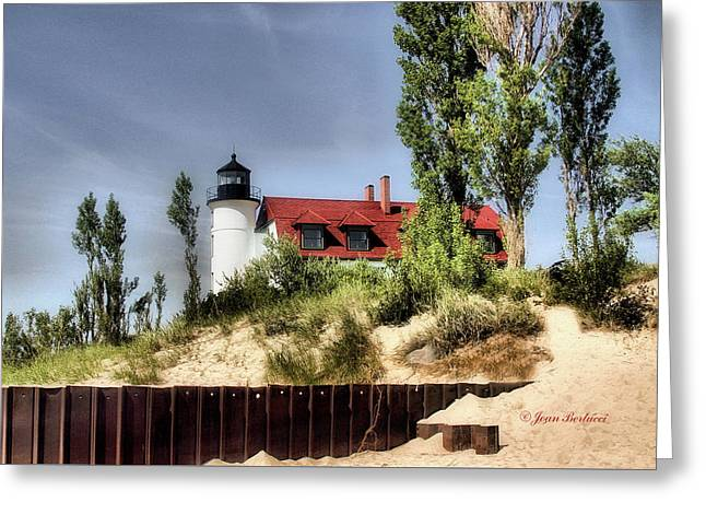 Greeting Card featuring the photograph Point Betsie Lighthouse II by Joan Bertucci