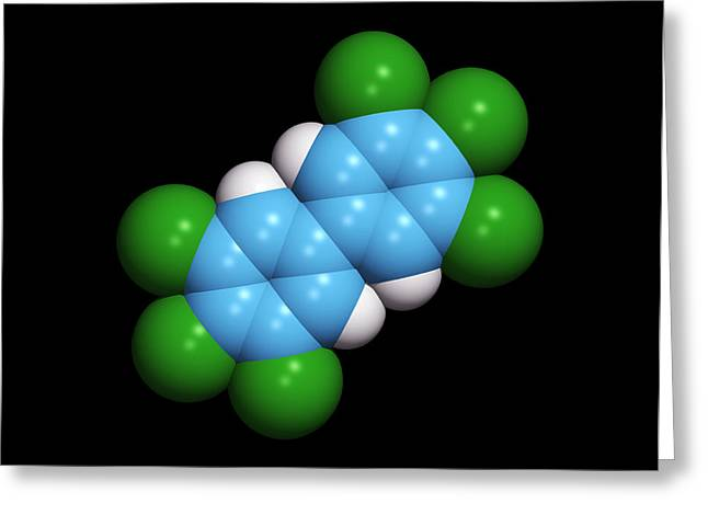 Polychlorinated Biphenyl Molecule Greeting Card by Dr Tim Evans